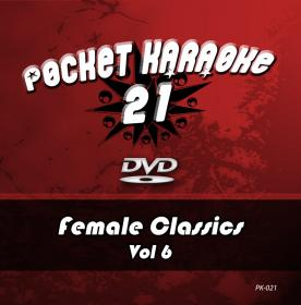 Pocket Karaoke Vol 21 - Female Classics Vol 6 (DVD)