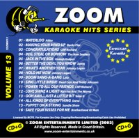 Zoom Karaoke Hits - Volume 13 CDG