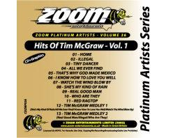Zoom Karaoke Platinum Artists: Tim Mcgraw Vol.1 (CD+G)