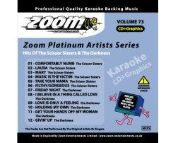 Zoom Karaoke Platinum Artists: Scissor Sisters And The Darkness (CD+G)