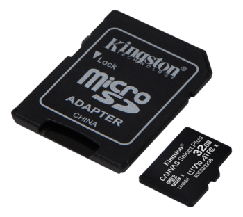 Kingston 32 Gt microSD Canvas Select Plus -muistikortti