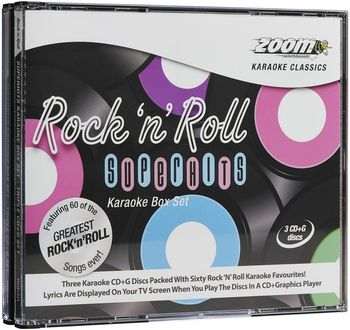 Rock N Roll Superhits Triple CD+G Pack (CDG)