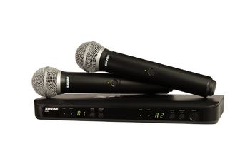 SHURE PG58 wireless dual microphone set