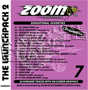 Zoom Karaoke Launchpack Series: Sensational Seventies (CD+G)