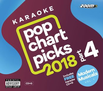 Zoom Karaoke Pop Chart Picks 2018 - Part 4 (2 CD+G's)