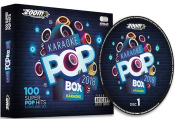 Zoom Karaoke Pop Box 2018 - A Year In Karaoke Party Pack (5 CD+G's)